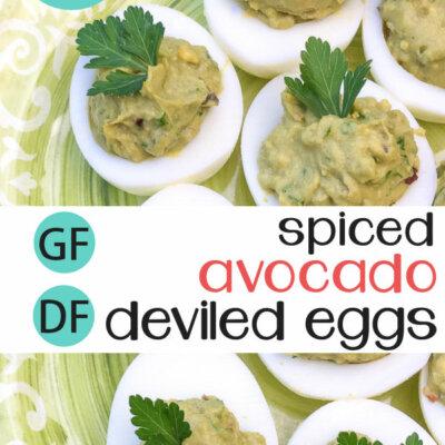 Spiced Avocado Deviled Eggs