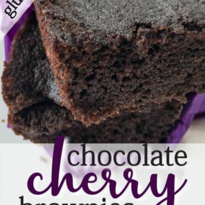 Gluten Free Chocolate Cherry Brownies