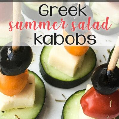 Greek Summer Salad Kabobs
