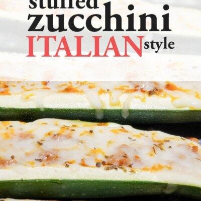 Italian Style Stuffed Zucchini